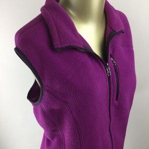 EDDIE BAUER Full Zip Up Sleeveless Fleece Vest XL